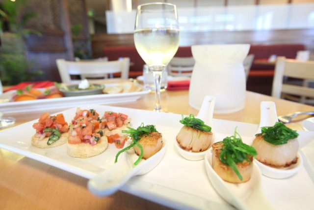 food, seafood, helicopter, brisbane, scallops