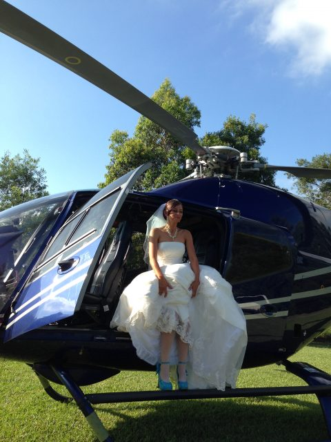 wedding by helicopter, brisbane wedding, celebrity,