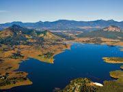 Lake moogerah aerial, helicopter flight, helicopter tour, brisbane, scenic rim
